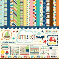 Echo Park - Little Boy Collection - 12 x 12 Collection Kit at Scrapbook.com $13.99