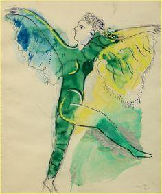 .. Maquette de costume pour l'Oiseau de feu d'Igor Stravinsky : le monstre