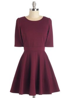 Dote Worry About It Dress. Treating loved ones to special occasions feels even merrier in this merlot-red dress! #gold #prom #modcloth
