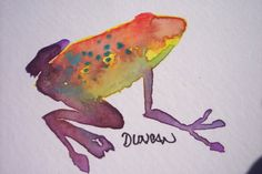 watercolor frog by ~duncanclay on deviantART