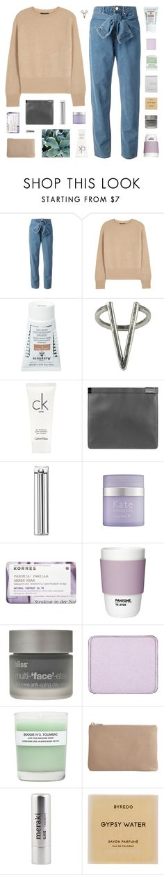 """""""- i keep up with the guys, and you see me holding up my middle finger to the world"""" by p-ureness ❤ liked on Polyvore featuring DKNY, The Row, Sisley, The 2 Bandits, Inca, Calvin Klein, Maison Margiela, Kate Somerville, Korres and Pantone"""