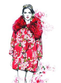 Dolce & Gabbana.  Fall 2014 Ready to wear. by Diana Kuksa (Nesypova), via Behance
