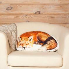 Fox Pillow  Sleeping Fox Shaped Pillow Woodland Animal by Casacova