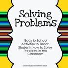 This back to school freebie includes lesson ideas, practice scenarios and a printable colored anchor chart to teach problem solving skills.  Enough...