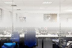 The Window Film Company Image Gallery Workspace Design, Office Workspace, Office Interior Design, Corporate Interiors, Office Interiors, Glass Film Design, Halle, Office Signage, Office Fit Out