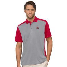 Miami University RedHawks Gray Vansport Two-Tone Polo
