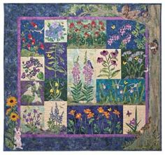 PETALS OF MY HEART II BLOCK OF THE MONTH BALI QUILT by McKenna Ryan