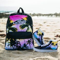 In Paradise: The Dolphin Beach Sk8-Hi Slim & Realm Backpack