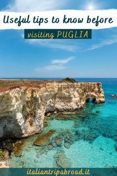 puglia travel tips | puglia guide | useful tips to visit puglia | things to know about puglia | puglia tips | puglia guide | puglia travel guide | puglia italia tour guide | puglia food guide | #puglia #italy #traveltips #europe #travels #italiantripabroad Italy Travel Tips, Travel Guide, Best Places In Italy, Italy Destinations, Puglia Italy, Italy Vacation, Travel Abroad, Best Vacations, Travel Around The World