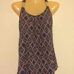 Papaya brand shirt Super cute tank  Halter racer back style with rope type straps  Size small  Brand papaya Papaya Tops Tank Tops