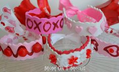 Be Mine Bracelets are incredibly easy Valentine's Day crafts to make. Craft a few to wear on the actual holiday, or help your kids make these bracelets for their friends as valentines.