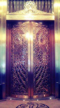 Palmer House Peacock Doors  Chicago