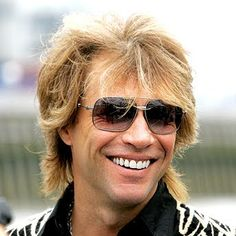 Jon Bon Jovi, sill looking good after all these years! Grew up with them. Best music ever. Continues to be today. Can't beat those 70's & 80's hits!!  <3
