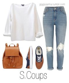 """At the Airport // S.Coups"" by suga-infires ❤ liked on Polyvore featuring Vans, River Island and Barneys New York"
