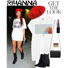 Rihanna's Street Style by szeying00 on Polyvore featuring Oak, Zimmermann, Building Block, Daytrip, Pembe Club, Sydney Evan, Betmar, Smashbox, StreetStyle and Rihanna