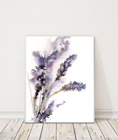Art Print of Lavender watercolor painting art by CanotStopPrints