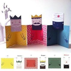 Great for Epiphany! Christmas Activities, Christmas Crafts For Kids, Xmas Crafts, Christmas Printables, Paper Crafts, Noel Christmas, Winter Christmas, Christmas Cards, King Craft