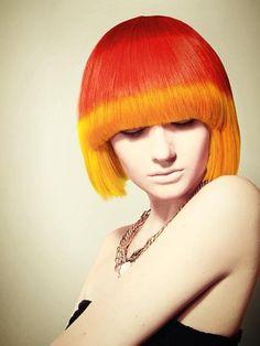 Red to orange tips #hair