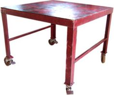 Industrial rolling table ~ Red
