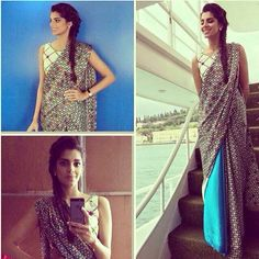 Sanam Saeed in saree
