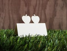 Wedding Double Apple Place Cards Set of 100 by tiffzippy on Etsy, $27.00