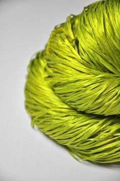 Blooming acorn OOAK  Silk Tape Lace Yarn  SUMMER by DyeForYarn, €18.50 Absolutely gorgoues!