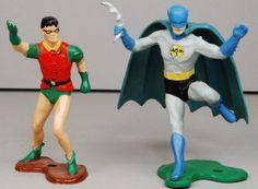 Batman-1966-Ideal-Playset-BATMAN-Robin-Painted-JLA-Figure-Bruce-Dick