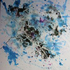 Emotional Turbulence 1  Mixed Media  50x50 Ink Painting, Wax, Mixed Media, My Arts, Mixed Media Art, Laundry