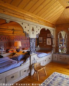 The beds are room design home design house design interior design designs Bunk Rooms, Attic Rooms, Bunk Beds, Twin Beds, Attic Bed, Attic Floor, Attic House, Attic Playroom, Attic Window