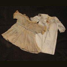 "Early 1900s Silk Coat and Dress for Antique Bisque or Compo Doll 16"" -18"""