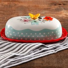 The Pioneer Woman Flea Market 6.4-inch Decorated Floral Butter Dish | Walmart Canada