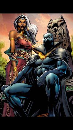 Storm and Black Panther- matrimony