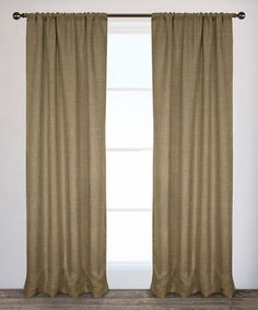 Look what I found on #zulily! Natural Burlap Curtain Panel - Set of Two #zulilyfinds