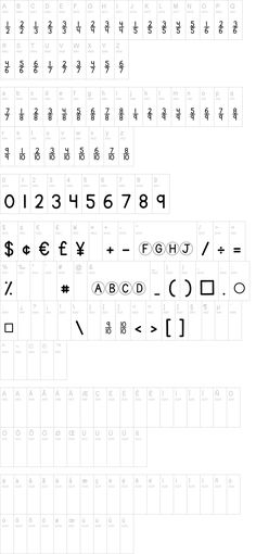 KG Traditional Fractions font (including other useful math ...