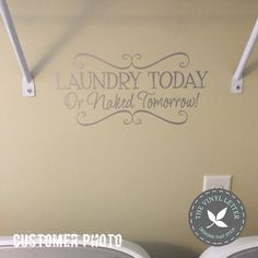 THE VINYL LETTER – designs that stick, Laundry Today Vinyl Decal, #tvlcustomerphotos