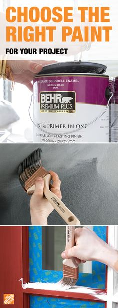 Choose the paint you use based on the type of surface you're covering. For drywall, use a quality enamel interior paint like BEHR Premium Plus. The paint + primer combination allows for exceptional coverage while the acrylic finish provides easy clean-up. Interior enamel paint works equally well on indoor textured surfaces like stone or brick. For exterior surfaces such as wood or vinyl, try a durable, semi-gloss enamel exterior paint like BEHR Marquee. Click to find everything needed to…