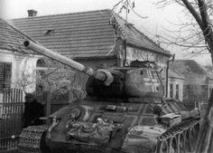 A Soviet T-34/85 captured and put into service the German side