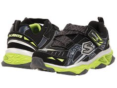 SKECHERS KIDS Galvanized Lights 90450L (Little Kid) Black/Navy/Lime - 6pm.com
