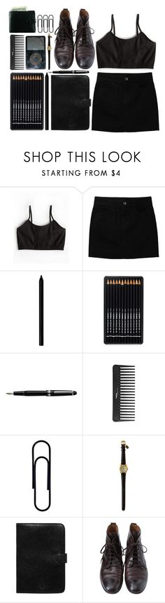 """Pitch black"" by nobodyspecial-218 ❤ liked on Polyvore featuring Sugarlips, Uniqlo, Giorgio Armani, Classique, Sephora Collection, Mulberry and Margaret Howell"