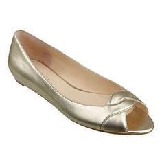 @Missy Rosenberg  did you say they should be sparkly? i forget. just pinning these as a potential? but i'm looking for sparkly too! Nine West: Shoes > Flats & Ballerinas > Aloha - peep toe flat