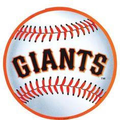 GameDay Novelties SF Giants 12 Baseball Shaped Sign