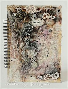 Couverture art journal mixed média