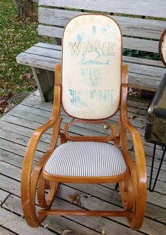Bentwood Rocking Chair Makeover YES Found One Of These PLUS A - Antique bentwood rocker rocking chair