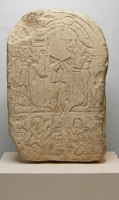 Stela  Period:     New Kingdom Dynasty:     Dynasty 18 Date:     ca. 1550–1295 B.C. Geography:     Country of Origin Egypt, Memphite Region, Memphis (Mit Rahina), Temple of Ptah