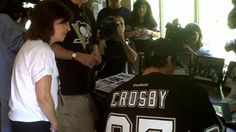 The Penguins players traveled around the Pittsburgh area delivering a special package to season ticket holders, continuing the team's annual tradition. Fourteen players visited season ticket holders at their homes to hand them their 2011-12 season ticket package. Sidney Crosby, Evgeni Malkin, Marc-Andre Fleury, Kris Letang, Brooks Orpik, Tyler Kennedy, Jordan Staal, Chris Kunitz, Matt Cooke, Pascal Dupuis, Zbynek Michalek, Paul Martin and James Neal took part in the fifth annual season…