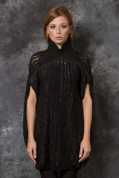 GIOVANNI CAVAGNA - Knit Poncho Dress - -PNP, fashion stores in Florence