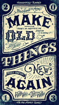 Old brand new design motto!