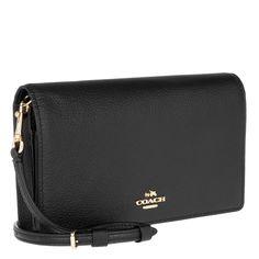b1b4a28973b4b Coach Foldover Crossbody Bag Black Elle bei Fashionette