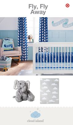 Designed for modern taste, the Fly, Fly Away nursery collection by the new Cloud Island is a gender-neutral must-have, only at Target. The pattern play is seriously fun and so on trend right now. The cozy-soft crib bedding sets, blankets and decor are intended to mix, match and create your own personal look. And these triangle and arrow prints integrate soft hues with perfectly placed pops of color to easily add a geometric vibe to the nursery.