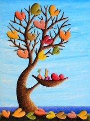 Love Forever and Always-  Happy, Colorful Heart Art  by Coplu available at Lahaina Galleries | call: 808-874-8583 or 808-661-MAUI